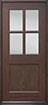 DB-004 Mahogany-Walnut Wood Entry Door