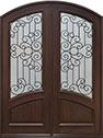 DB-005 DD Mahogany-Walnut Wood Entry Door