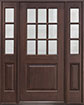 DB-009 2SL Mahogany-Walnut Wood Entry Door