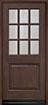 DB-009 Mahogany-Walnut Wood Entry Door