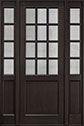 DB-012PT 2SL Mahogany-Espresso Wood Entry Door