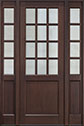 DB-012PT 2SL Mahogany-Walnut Wood Entry Door