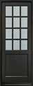 DB-012PT Mahogany-Espresso Wood Entry Door