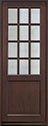 DB-012PT Mahogany-Walnut Wood Entry Door
