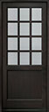 DB-012PW Mahogany-Espresso Wood Entry Door