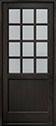 DB-012PW Mahogany-Espresso Wood Door - in-Stock