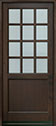 DB-012PW Mahogany-Walnut Wood Entry Door