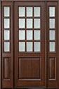 DB-012T 2SL Mahogany-Dark Mahogany Wood Entry Door
