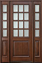 DB-012T 2SL Mahogany-Walnut Wood Entry Door