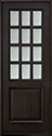 DB-012T Mahogany-Espresso Wood Entry Door