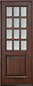 DB-012T Mahogany-Walnut Wood Entry Door