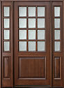 DB-012W 2SL Mahogany-Walnut Wood Entry Door