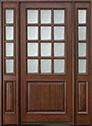 DB-012W 2SL Mahogany-Walnut Wood Entry Door