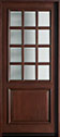 DB-012W Mahogany-Dark Mahogany Wood Entry Door