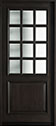 DB-012W Mahogany-Espresso Wood Entry Door