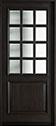 DB-012W Mahogany-Espresso Wood Entry Door