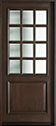 DB-012W Mahogany-Walnut Wood Entry Door