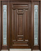 DB-095 2SL Mahogany-Walnut Wood Entry Door