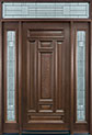 DB-095 2SL TR Mahogany-Walnut Wood Entry Door