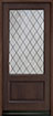 DB-101PSDG Mahogany-Walnut Wood Entry Door