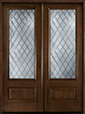DB-101 DD Mahogany-Walnut Wood Entry Door