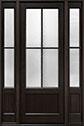 DB-104PT 2SL Mahogany-Espresso Wood Entry Door