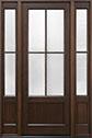 DB-104PT 2SL Mahogany-Walnut Wood Entry Door