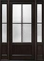 DB-104PW 2SL Mahogany-Espresso Wood Entry Door