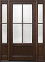DB-104PW 2SL Mahogany-Walnut Wood Entry Door