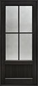 DB-104PW Mahogany-Espresso Wood Entry Door