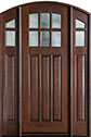 DB-112A 2SL Mahogany-Walnut Wood Entry Door