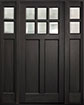 DB-112PS 2SL Mahogany-Espresso Wood Entry Door