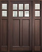 DB-112PS 2SL Mahogany-Walnut Wood Entry Door