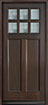 DB-112PS Mahogany-Walnut Wood Entry Door