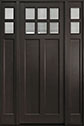 DB-112PT 2SL Mahogany-Espresso Wood Entry Door