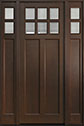 DB-112PT 2SL Mahogany-Walnut Wood Entry Door
