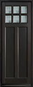 DB-112PT Mahogany-Espresso Wood Entry Door