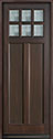DB-112PT Mahogany-Walnut Wood Entry Door