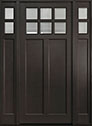 DB-112PW 2SL Mahogany-Espresso Wood Entry Door