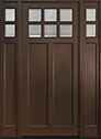 DB-112PW 2SL Mahogany-Walnut Wood Entry Door