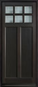 DB-112PW Mahogany-Espresso Wood Entry Door