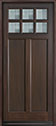 DB-112PW Mahogany-Walnut Wood Entry Door