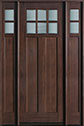 DB-112T 2SL Mahogany-Walnut Wood Entry Door