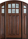DB-112WA 2SL Mahogany-Walnut Wood Entry Door