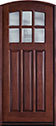 DB-112WA CST  Mahogany-Dark Mahogany Wood Entry Door