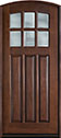 DB-112WA Mahogany-Walnut Wood Entry Door