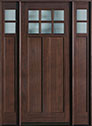 DB-112W 2SL Mahogany-Walnut Wood Entry Door
