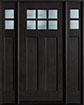 DB-112 2SL Mahogany-Espresso Wood Entry Door