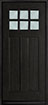 DB-112 Mahogany-Espresso Wood Entry Door