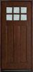 DB-112 Mahogany-Walnut Wood Entry Door